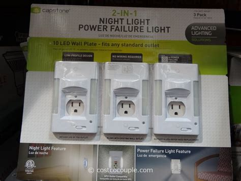 capstone night light power failure light