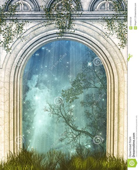 porte magique illustration stock image 61945129