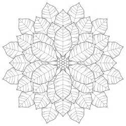 Poinsettia Mandala Coloring Pages