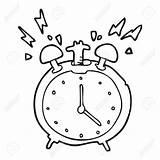 Clock Alarm Coloring Cartoon Drawing Clipart Ringing Clip Line Getcolorings Getdrawings sketch template