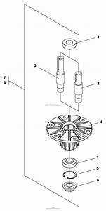 Bunton  Bobcat  Ryan 736406a Cutterdeck 61 U0026quot  Floating Parts Diagram For Spindle Assembly