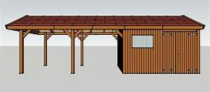 Schuppen Selber Bauen : carport 3 x 9 meter mit satteldach und ger teschuppen aus ~ Michelbontemps.com Haus und Dekorationen