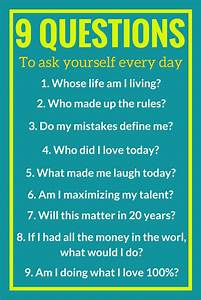 9 Questions To Ask Yourself Every Day Personal ...