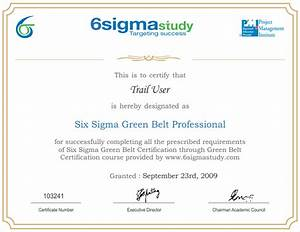 quelques liens utiles With six sigma black belt certificate template