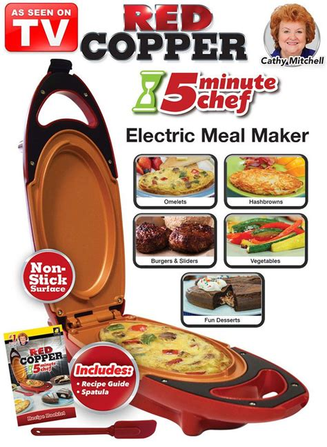 red copper  minute chef  httpwwwfeelgoodstorecom copper cooking pan chef cooking dash