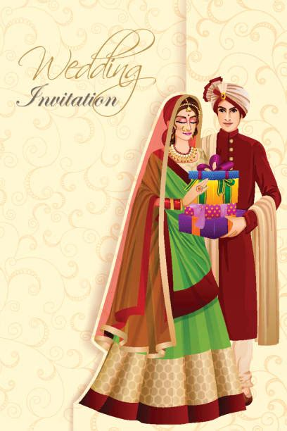 indian bride illustrations royalty  vector