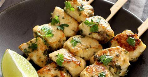 recette brochettes de poulet au citron  aux herbes