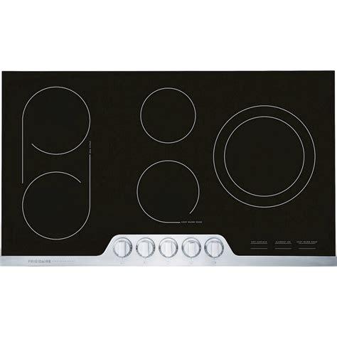ceramic cooktop fpec3677rffrigidaire professional professional 174 36 quot ceramic electric cooktop stainless steel