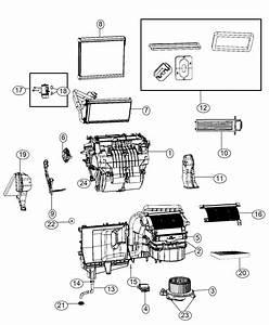 2010 Dodge Journey Actuator  Blend Door  A  C And Heater  Instrument  Module  Panel