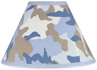 Camo Blue Lamp Shade 4x7x10 In Childrens Room D