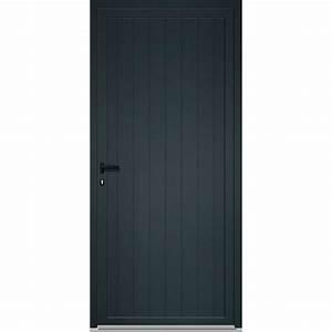 Porte De Service Aluminium : porte de service aluminium poussant droit x cm ~ Dailycaller-alerts.com Idées de Décoration