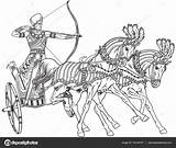 Chariot Egyptian Outline Ancient Egypt Warrior Vector Illustration Sketch Horse Horses Pharaoh Clip Pulled Clipart Depositphotos Illustrations Wheeled Carrying Drawing sketch template