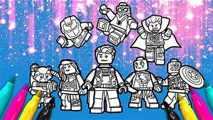Lego Avengers Team Coloring Page