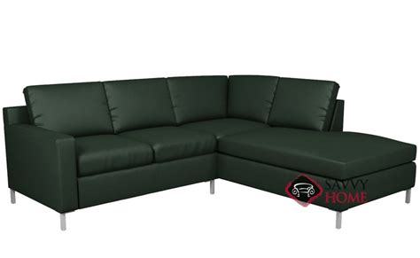 chaise indus soho leather chaise sectional by lazar industries is fully