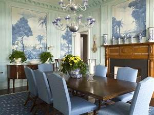 blue dining room with murals wall decor eclectic home With how to decorate blue dining room