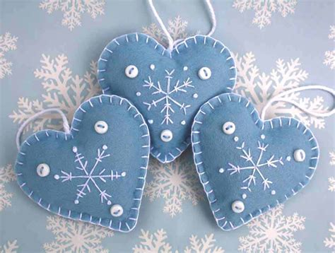 Felt Christmas Heart Ornaments Handmade Snowflake Ornaments Replace Thermopile Gas Fireplace Decorating The For Christmas Paint Fireplaces Pinterest Outdoor Inside Small Living Room Designs With Electric Insert No Heat Refacing Brick