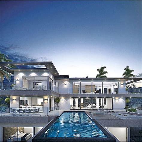 stunning modern home   infinity pool beautiful modern homes dream house exterior