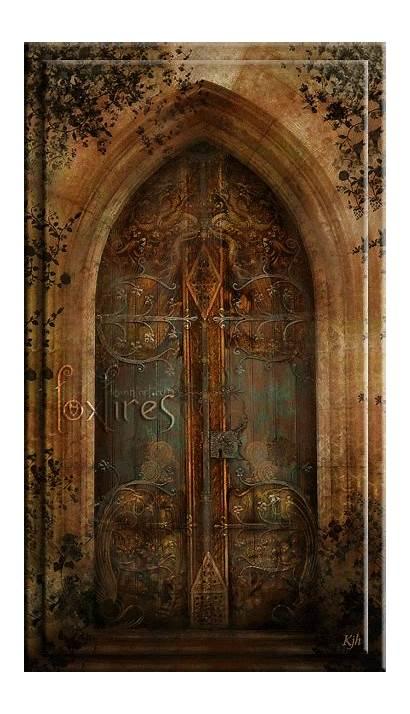 Animated Doors Door Cool Ancient Gate Mystical