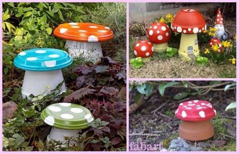 diy clay pot mushroom toadstool tutorialsv