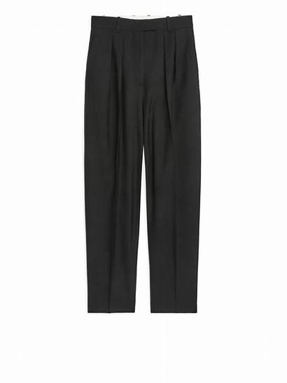 Trousers Arket Hopsack Wool Tapered
