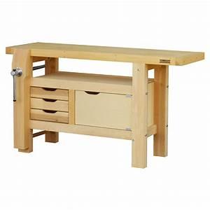 Garage En Bois Leroy Merlin : etabli en bois outifrance 1m50 avec 1 porte leroy merlin ~ Melissatoandfro.com Idées de Décoration