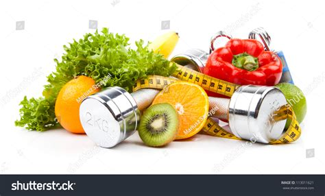 cuisine fitness fitness equipment healthy food stock photo 113011621