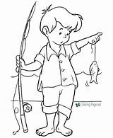 Coloring Summer Pages Fishing sketch template