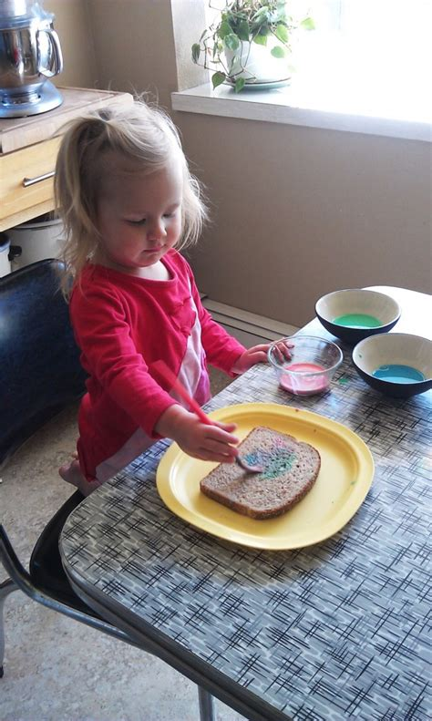 painting bread craft  toddlers woo jr kids activities