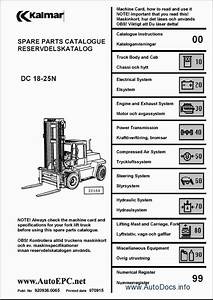 Kalmar Lift Truck Parts Catalog Repair Manual Order  U0026 Download