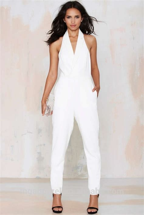 formal white jumpsuit 2015 jumpsuit white formal tuxedo