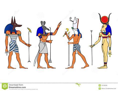 Egyptian Gods And Goddess Stock Illustration. Illustration