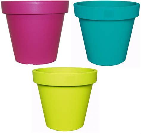 Plant Pots by Bright Coloured Plant Pots Large Medium Small Planters