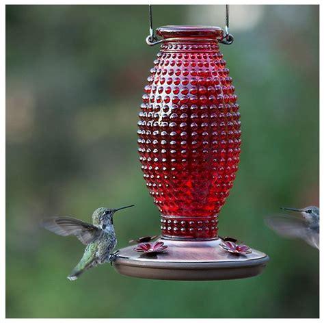 hobnail vintage glass hummingbird feeder  price pet food supplies  sale lifeandhomecom