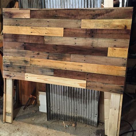 pallet wood headboard plans  builders guide revival woodworks