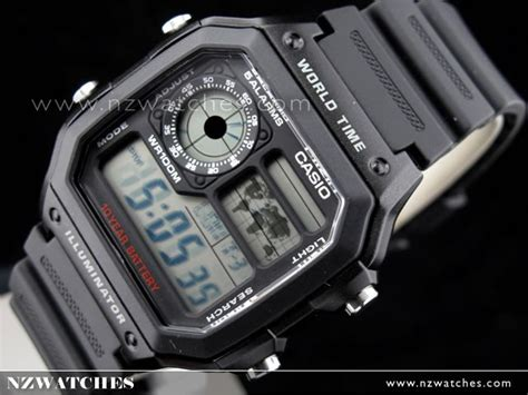 Casio Ae 1200wh 1avdf buy casio 10yrs battery 5 alarms world time ae