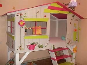 Cabane Chambre Enfant : lit cabane chambre fille pinterest ~ Teatrodelosmanantiales.com Idées de Décoration