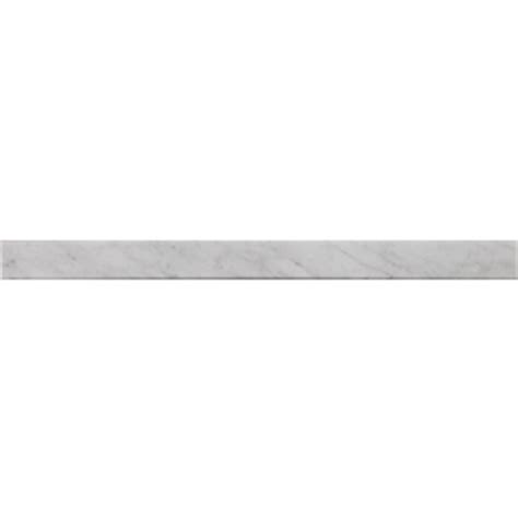 lowes marble threshold shop american olean 36 in x 2 in carrera white natural marble threshold tile at lowes com