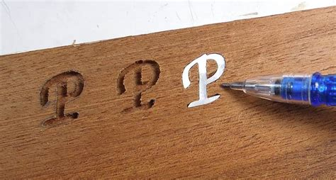 wood inlay letters  woodworking