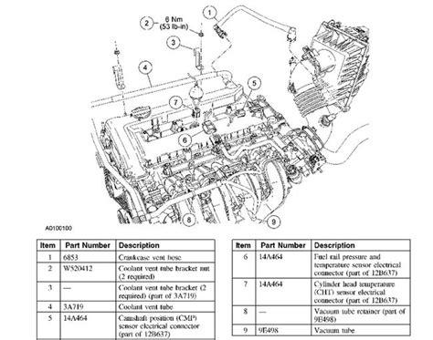 06 Ford Escape Engine Wire Harnes by 2005 Ford Escape Engine Diagram Automotive Parts Diagram
