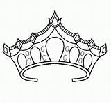 Crown Coloring Princess Pages Tiara Drawing Royal Prince Template Crowns Sketch Printable Netart Sheets Drawings Pretty King Getdrawings Popular Cool sketch template