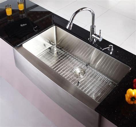 kraus stainless steel sink scratches kraus khf20036 36 inch farmhouse apron single bowl kitchen