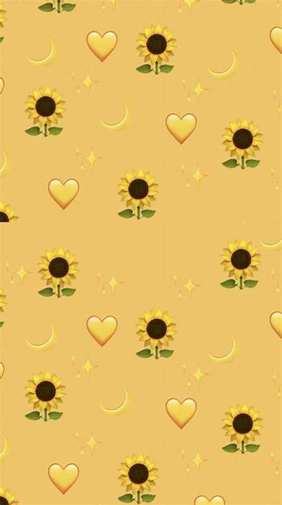 Pastel Aesthetic Yellow Emoji Iphone Disney Flowers