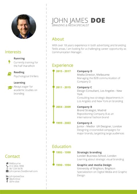 Creating A Cv For Free by Cv Template Free Cv Builder Best Cv Templates