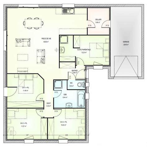 plan maison plain pied 4 chambres avec suite parentale afficher l image d origine plan t3 images