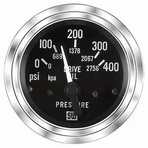 Deluxe Trans Oil Pressure Gauge  P  N 82136
