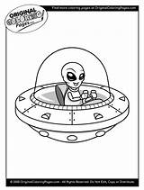 Coloring Aliens Pages Space Quiz sketch template