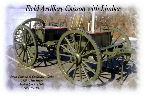 caisson d caisson carriages steen cannons authentic u s
