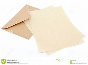 brown envelope with letter paper royalty free stock With letter writing paper and envelopes