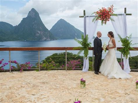 jade mountain st lucia caribbean wedding tropical sky