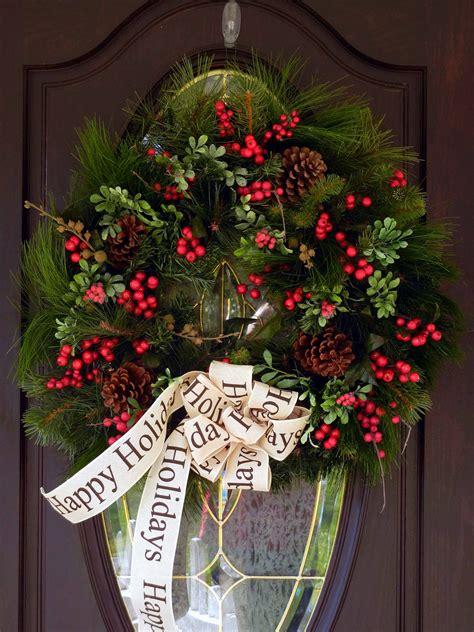 beautiful handmade christmas wreath designs style
